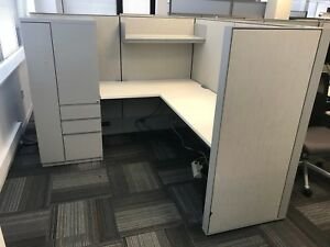 Used Office Cubicles Haworth Compose Cubicles 6x6