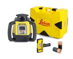 Rotating Laser Leica Rugby 670 With Rod Eye 120 And Alkaline Package 6011158