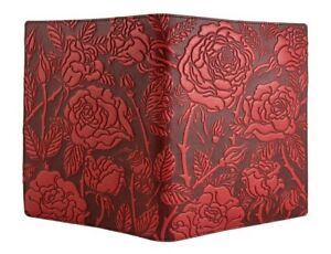 Wild Rose Oberon Design Red Leather Composition Notebook Cover Made To Order