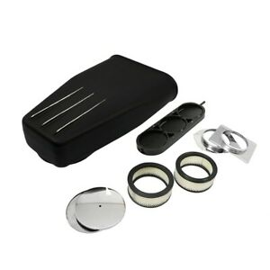 Black Aluminum Finned Bug Catcher Style Air Scoop 5 1 8 Single