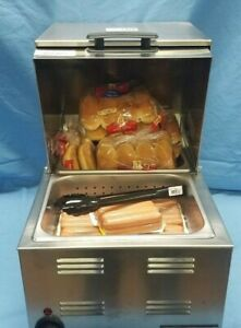 Commercial Countertop Hot Dog And Bun Warmer steamer New 115v