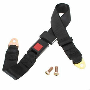 Universal Truck Car Seat Belt Lap Belts Adjustable 2 Point Bolt Safety Black 1pc
