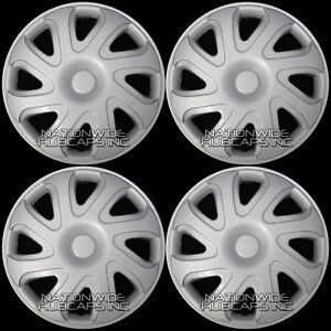 14 Set Of 4 Hubcaps Wheel Covers Snap On Full Hub Caps Fit R14 Tire