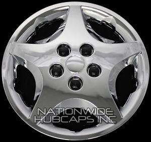 14 Set Of 4 Chrome Wheel Covers Snap On Full Hub Caps Fit R14 Tire
