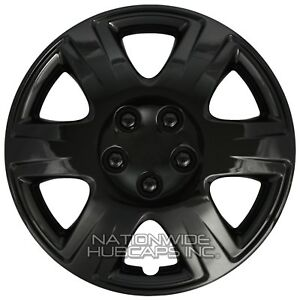 15 Set Of 4 Black Wheel Covers Snap On Full Hub Caps Fit R15 Tire