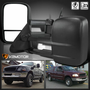 For 1997 2003 Ford F150 Extend Telescoping Power Side Tow Mirrors Left Right