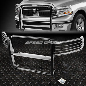 For 09 18 Dodge Ram 1500 Pickup Chrome Stainless Steel Front Bumper Grill Guard