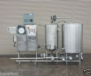Sani tech 2 Tank Cip System With Controls Process Machinery
