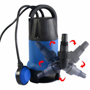 1 2hp 2000gph Submersible Dirty Clean Water Flood Pond Swimming Pool Garden Pump