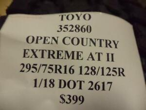 Toyo Open Country Extreme At Ii 295 75 16 128 125r Brand New Tire 352860