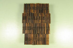 American Wt Letterpress Wood Type Blocks French Clarendon 1 3 8 Inch Uppercase
