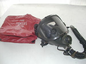 Scott Airport Firefighter Respirator W Communication Scba Air Mask Green