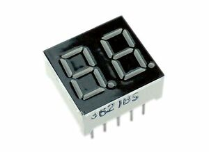 0 36 2 Digit 7 segment Led Display Common Anode Red Pack Of 2