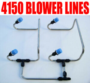 New Black One Inlet 4150 Line Kit Stainless Steel Blower Holley Qft Carbs