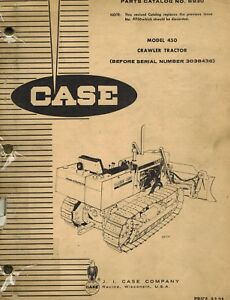 Case Vintage 450 Crawler Parts Manual B930 Before Ser No 3038436