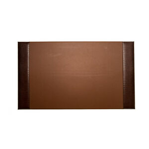 Bey berk Desk Pad Brown croco Leather 20 x34