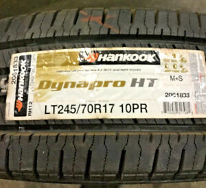 2 New Lt 245 70 17 Lre 10 Ply Hankook Dynapro Ht Tires