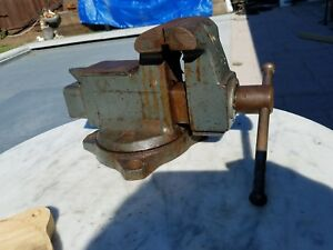 Wilton Model 1644 26lb Swivel Base Anvil Bench Vise 4 Jaws Open Up To 6 Usa