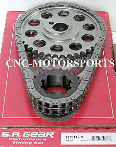 Sb Ford 302 351w Late Billet Race Roller Timing Chain 9 Keyway Sa Gear 78551t 9