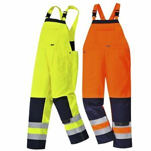 Portwest Girona Hi vis Bib Brace Workwear Trouser Pants Coverall Overalls Tx72