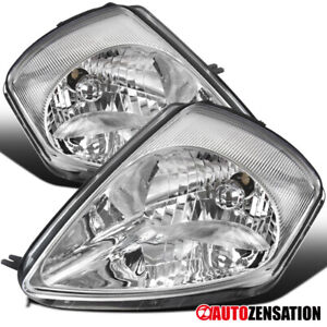 For 2000 2005 Mitsubishi Eclipse Clear Headlights Head Lamps Pair Left right