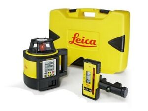 Brand New Leica Rugby Rotating Laser 880 W Rod Eye140 Package 6006039