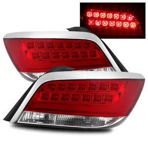 For 10 13 Buick Lacrosse Red Clear Left Right Led Tail Lights Rear Brake Lamps
