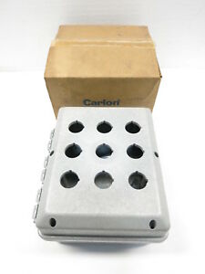 New Carlon J1085p Circuit Safe 9 hole Fiberglass Pushbutton Enclosure