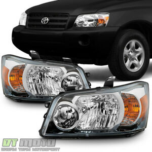 For 2004 2005 2006 Toyota Highlander Factory Style Headlights Headlamps 04 05 06