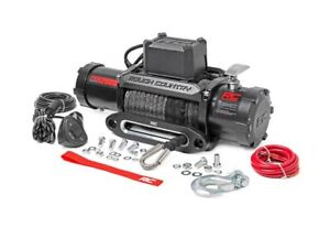 Rough Country 12000lb Electric Winch Recovery System W Synthetic Rope Pro12000s