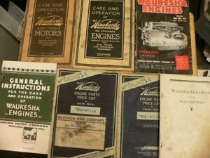 Lot Of 7 Old Waukesha Engines Motors Booklets