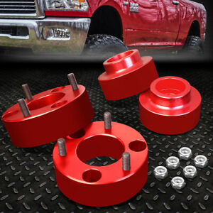 For 2009 2018 Dodge Ram 4wd Red 2 5 Front 1 5 Rear Complete Leveling Lift Kit
