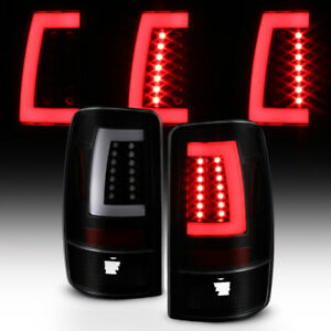 Black Smoke 2000 2006 Chevy Suburban Tahoe Yukon Led Light Bar Tail Lights Lamps