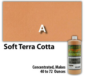 Professional Easy To Apply Water Based Concrete Stain Soft Terra Cotta 8oz