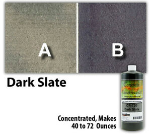 Professional Easy To Apply Water Based Concrete Stain Dark Slate 8oz
