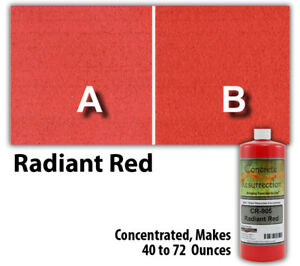 Professional Easy To Apply Water Based Concrete Stain Radiant Red 8oz