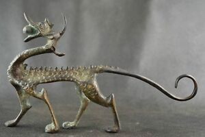 Collectables Dynasty Old Chinese Bronze Dragon Statue