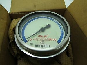 New 3 3 4 Inch Helicoid Gauge Meter Guage Steam Punk c1 5a1093