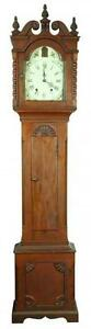 Swc Tall Case Cuckoo Clock W Wooden Works Ct C 1820