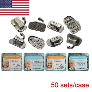 200pcs Dental Orthodontic Buccal Tubes Roth Mbt 1st 2nd Molar Slot 022 Monoblock
