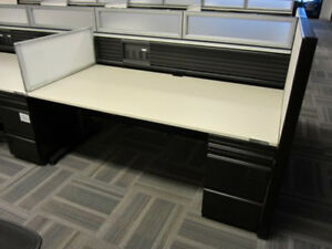 Used Office Cubicles Knoll Benching Workstations 5x2 5