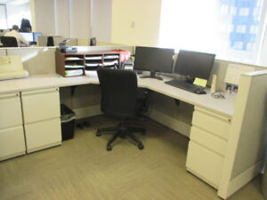 Used Office Cubicles Haworth Premise Enhanced Cubicles 6x7