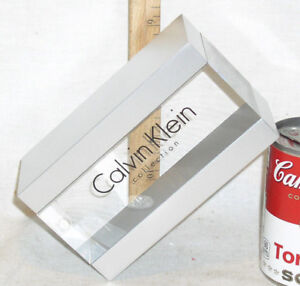 New Calvin Klein Eyewear Eyeglass Clear Acrylic Advertising Display Paper Weight