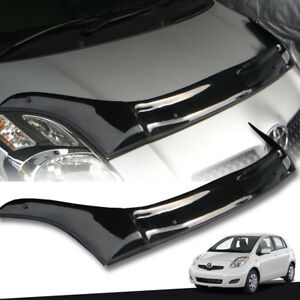 Gloss Black Front Bug Guard Shield Fit For Toyota Yaris Hatchback 2009 2013