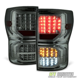 For Smoke 07 13 Toyota Tundra Full Led Tail Lights Brake Reverse Parking Signal