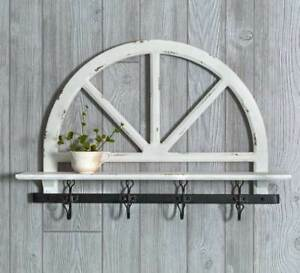 Country New Farmhouse Parker S Prarie Wall Shelf With Hooks Nice