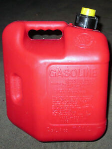 Blitz Vtg Red Plastic Old 2 Gallon Gas Can With Self Vented Vent Spout Fuel Cap