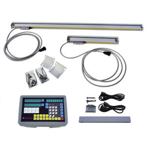 2 3 Axis Digital Readout Dro Kit For Milling Lathe Machine Glass Linear Scales