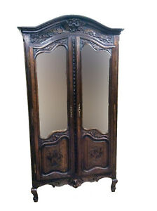 Lovely Antique French Bridal Armoire Oak 1920 S