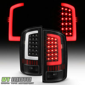 Black 2002 2006 Dodge Ram 1500 03 06 2500 3500 Led Bar Tail Lights Brake Lamps